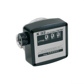 Compteur mécanique huile PVC 300 mm2/s max, référence K33H