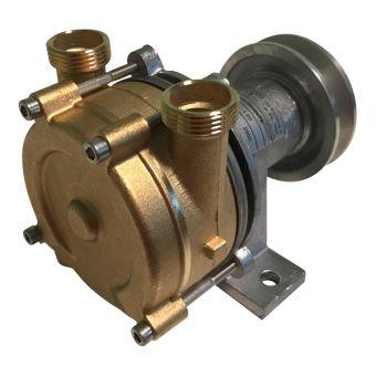 Pulley-driven pump
